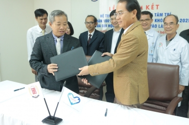 THE SIGNING CEREMONY FOR COOPERATION WITH TAM TRI MEDICAL GROUP