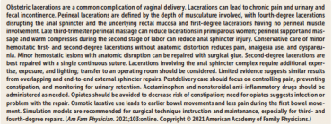 Obstetric Lacerations: Prevention and Repair